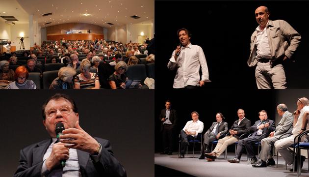 25 juin 2012 - Luc Montagnier, Gérard Dieuzaide, Philippe Lebar, Richard Forget, Jean-Yves Bilien et Maxence Layet : Les sacrifiés des ondes