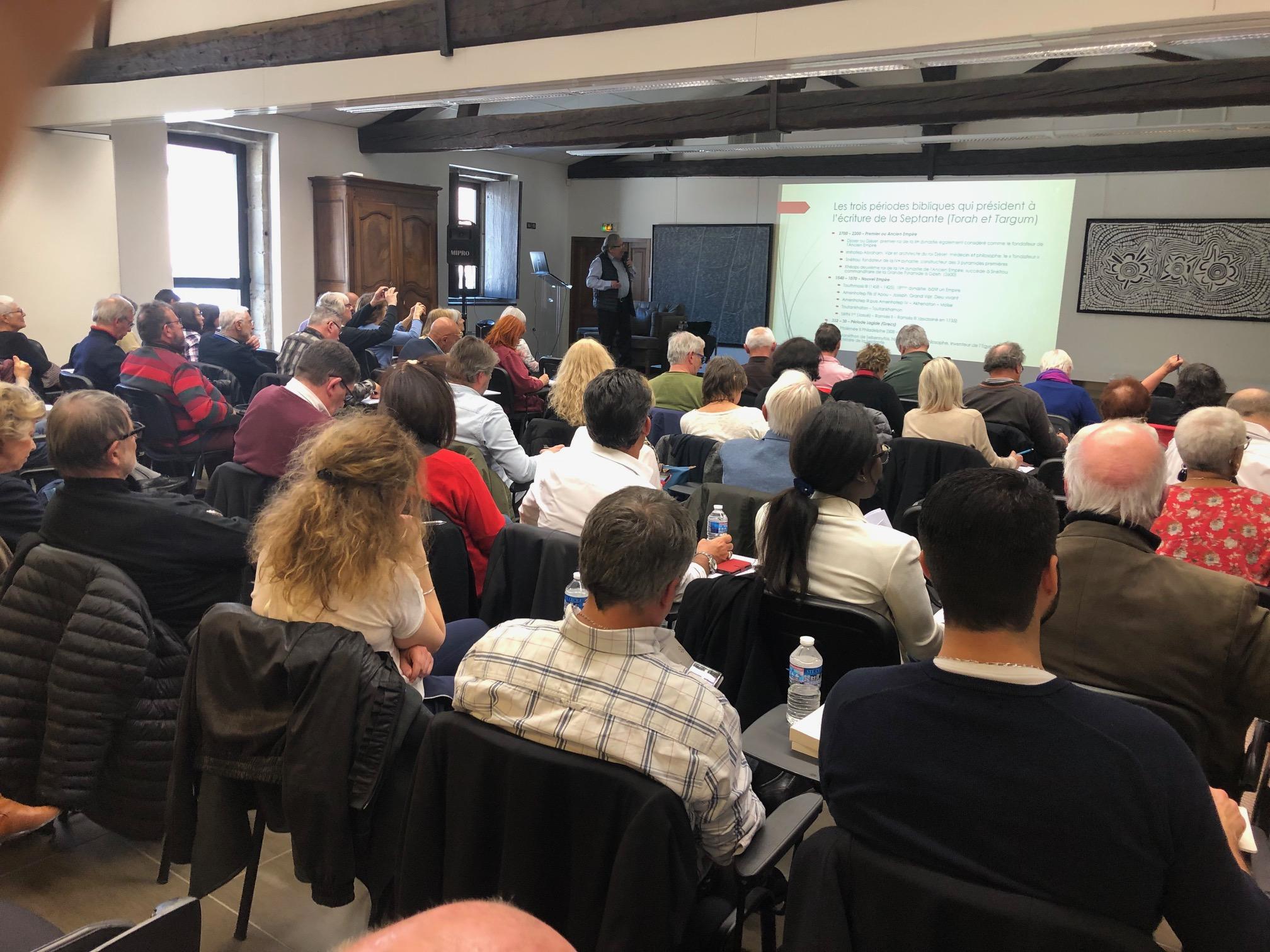 """13 avril 2019 à Tain L'Hermitage : séminaire """"La Cosmogonie Égyptienne, clé de décryptage de la Bible"""""""